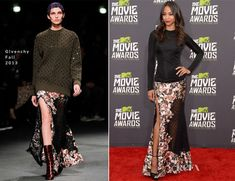 Zoe Saldana In Givenchy – 2013 MTV Movie Awards