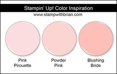 Powder Pink Comparison, Stampin' Up!, Brian King