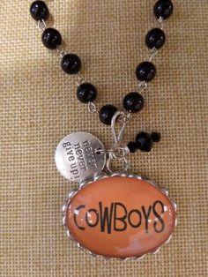 ADO | Hometown Pride Cowboys Charm Rosary Necklace