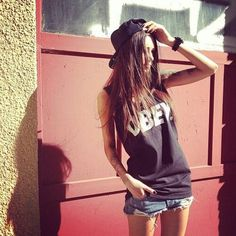 obey tank with the snapback