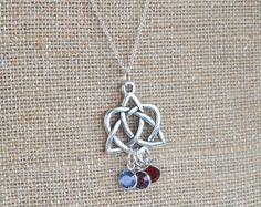 Eterno corazón celta nudo cobre collar con por peatfirejewelry