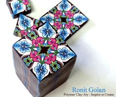 Ronit Golan - Polymer Clay Joy - Inspire to Create: New polymer clay canes plus news about my FB page Polymer Clay Animals, Polymer Clay Canes, Polymer Clay Flowers, Polymer Clay Projects, Diy Clay, Polymer Clay Jewelry, Clay Crafts, Clay Tutorials, Clay Creations
