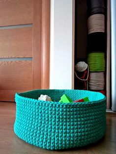 Ravelry: Toy storage basket pattern by Simona Kastanauskiene