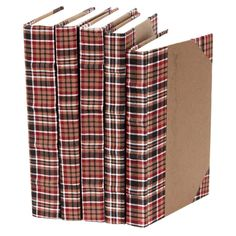English Plaid Book Set: one of my favorite things covered in one of my favorite prints. What's better?