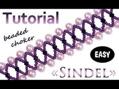 "Beaded choker / bracelet ""SINDEL""  = Maybe all black?   ~ Seed Bead Tutorials"