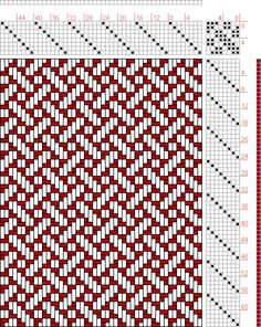 Hand Weaving Draft: Plate 39, Figure 23, Dictionary of Weaves Part I by E.A. Posselt, 8S, 8T - Handweaving.net Hand Weaving and Draft Archive