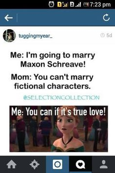 Group of: I'm Gonna Marry Maxon Schreave | via Facebook | We Heart It