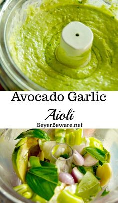 Want to add a burst of flavor to your sandwiches or find a new dip for your veggies? This avocado garlic aioli recipe will be your new favorite summer condiment. Mexican Food Recipes, Vegetarian Recipes, Cooking Recipes, Healthy Recipes, Healthy Food, Garlic Aioli Recipe, Avacado Sauce, Avocado Dip, Ketogenic Diet