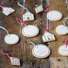 Easy to make using air dry clay, letter stamps and a sharpie. Make your Christmas tree that little bit more personal.
