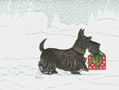 Scottish Terrier Boxed Christmas Cards by Pumpernickle Press, http://www.amazon.com/dp/B0043SEXUI/ref=cm_sw_r_pi_dp_zfJZrb1TT7RAC
