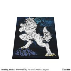 Fantasy Animal Werewolf Canvas Print