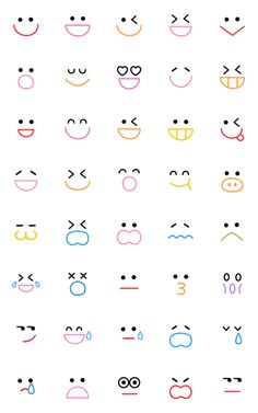 Smiley (colorful) – LINE emoticons Bullet Journal Lettering Ideas, Bullet Journal Banner, Bullet Journal Aesthetic, Bullet Journal Writing, Bullet Journal Ideas Pages, Bullet Journal Inspiration, Daily Journal, Emoji Drawings, Easy Doodles Drawings