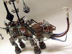 """LEGO Steampunk AT-AT  The coal fires driving the LEGO """"Steam Wars"""" contest get stoked again with this fantastic new submission discovered via clubjade.net. The mammoth tusks and top-deck cannons were inspired additions to this entry."""