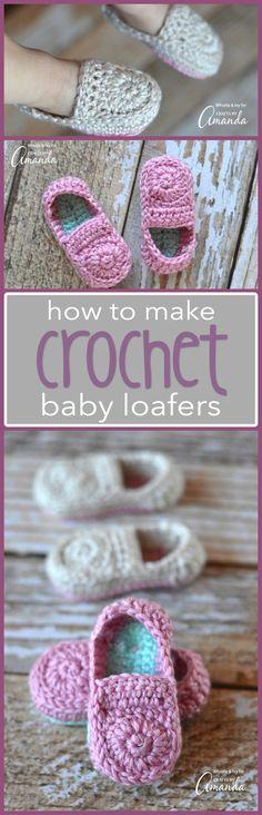 Crochet Baby Loafers Booties