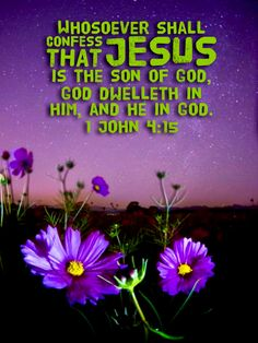 """""""Whosoever shall confess that Jesus is the Son of God, God dwelleth in him, and he in God. Christ In Me, In Christ Alone, Jesus Christ, Bible Verse Art, Bible Scriptures, Positive Quotes For Life, Positive Thoughts, Prayer Quotes, Bible Quotes"""