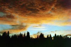 Photo taken on Canon AE-1 with 50mm 1:18 lens /// Sunset on the Rocky Mountains--- this is my personal photo!!