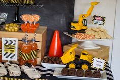 Construction, construction party Birthday Party Ideas | Photo 4 of 20 | Catch My Party