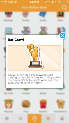 Bar Crawl - Check in at 5 bar venue categories in a row
