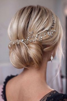 Crystal hair vine Wedding headpiece Rhinestone hair vine Bridal headpiece Wedding hair accessories Bridal hair accessories These gentle rhinestones bridal hair vine are truly stunning and would add a romantic touch to any brides hair ensemble! Wedding Hairstyles For Medium Hair, Bride Hairstyles, Hairstyle Ideas, Easy Hairstyles, Medium Hair Wedding Styles, Hair Do For Medium Hair, Bridesmaids Hairstyles, Graduation Hairstyles, Gorgeous Hairstyles