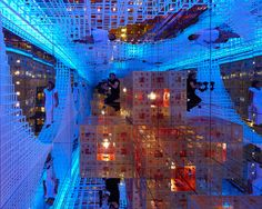 Beyond the Infinity by Serge Salat: Visitors walk through a maze of mirrored rooms to explore infinity through reflections. <a href=