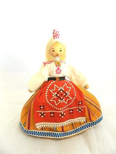 Estonian Folk Costume Doll.  My grandmother and great-aunt both had similar dolls as reminders of their homeland.