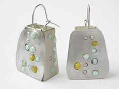 Sonia Morel – boucles d'oreilles 2012, argent 925, turquoises