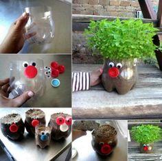 Domácí bylinková zahrádka z PET lahve