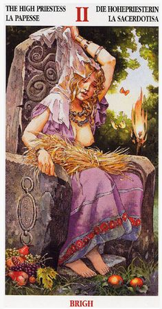 Brigid, Tuath goddess of  fire (the forge and the hearth), poetry, healing, childbirth, and unity.