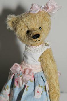 OOAK Handmade Mohair Teddy Bear Charlotte by BereguodBears on Etsy,