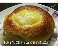 La cucharita de azúcar: Panes dulces rellenos con crema Pan Relleno, Pudding, Elba, Cooking, Desserts, Food, Pastries, Meal, Appetizers