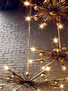 #HPMKT2015 #SneakPeek Solaria Lighting introduces their new handcrafted Iron Sol Chandelier in a scraped gold leaf finish.