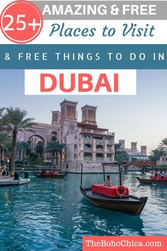 Best Places to Visit in Dubai for Free & Cheap and Free Things to do in Dubai: From watching flamingoes and Dubai's liveliest beach to the world's tallest dancing fountains, I've got you covered if you're visiting Dubai on a budget. Dubai on a Budget Dubai Places To Visit, Dubai Things To Do, Cheap Things To Do, Visit Dubai, Free Things To Do, Cool Places To Visit, Places To Travel, Places To Go, Best Places In Dubai