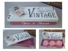 Caixa Oca Vintage   Com opção de sabonete