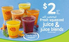 JAMBA JUICE $$ Coupon for Fresh Squeezed Juice & Juice Blends Only $2 – LAST DAY!
