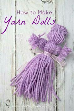 Making yarn dolls