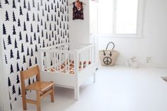 10 KIDS ROOMS WITH WALLPAPER - Love this wallpaper!