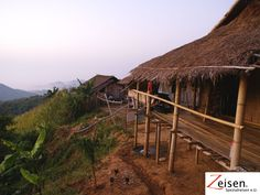 Bambushüttendorf in Thailand Thailand, Cabin, House Styles, Home Decor, Tour Operator, Travel, Homemade Home Decor, Cabins, Cottage