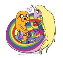 jake,lady, and puppies - adventure-time-with-finn-and-jake Photo