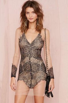 For Love and Lemons Antigua Mini Dress - Black | Shop What's New at Nasty Gal