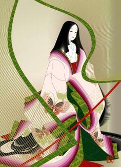 Heian Era, Heian Period, Japanese Artwork, Japanese Painting, Japanese Novels, Anime Boy Hair, Geisha Art, Kimono Japan, Japanese Costume