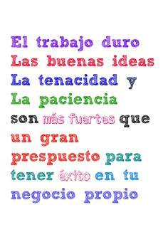 Este board incluye frases inspiracionales de Karina Guerra para los micro-empresarios o emprendedores que quieren arrancar sus negocios propios.