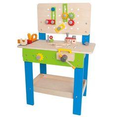 Banco de trabajo con herramientas de madera. #juguetes #regalos #toys