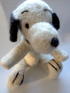 Needle Felted Toy Snoopy Peanuts gang by CarleysCornerStudio, $60.00