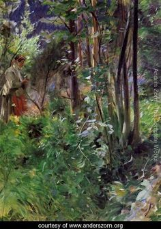 A Woman in a Forest - Anders Zorn - www.anderszorn.org