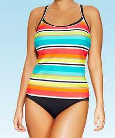 Look at this Red & Blue Sunkissed Stripe Tankini - Women & Plus on #zulily today!