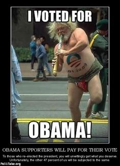I would have guessed this guy voted for Obama even without the emblem painted on his belly.