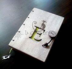 Libretas de madera personalizadas, con cierre y tapa gruesa