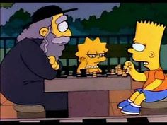 """I Simpson"" che nel 1991 presenta l'episodio 3x06 ""Tale padre, tale clown"". #Chess #Scacchi #Simpsons"