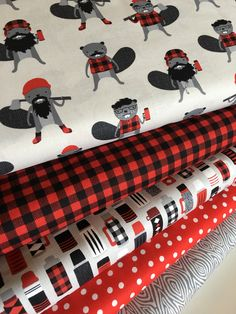 A personal favorite from my Etsy shop https://www.etsy.com/listing/482285124/burly-beavers-fabric-bundle-of-5-sewing