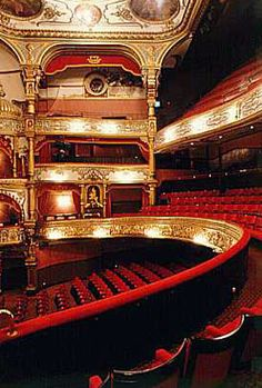 Grand Opera House, BELFAST, NORTHERN IRELAND. Designed by the most prolific theatre architect of the period. The magnificent auditorium is the finest in the UK